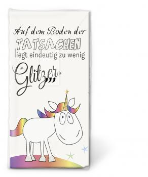 10 Stuck Taschentucher 21 5x22 Cm Unicorn Glitter Www Top Tischdeko De