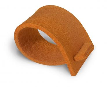 4 Stück Serviettenring aus Filz orange (Felt ring orange)