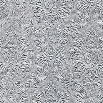 Cocktailservietten geprägt Momente Ornament silber (Moments Ornament silver)