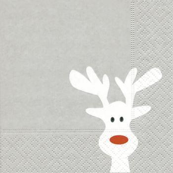 Bilder Rentiere Weihnachten.20 Servietten Elche Rentiere Weihnachten Muster 25x25 Cm