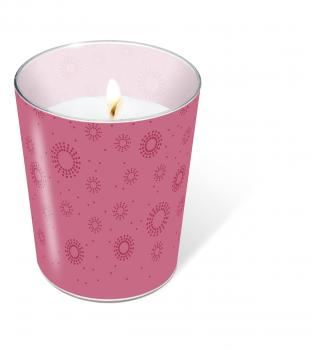 Glaskerze Momente Uni pink (Moments uni pink)