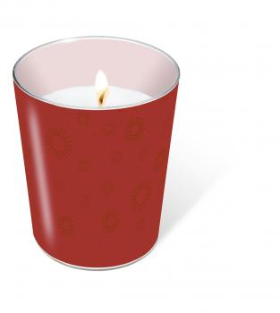 glass candle Moments uni ruby