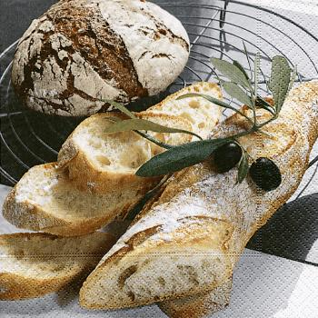 Lunchservietten Brot (fresh bread)