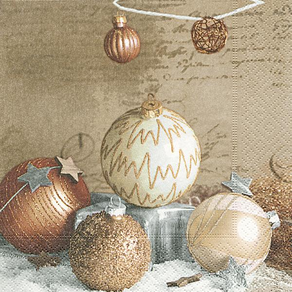 20 Napkins 25 cm Bauble arragement