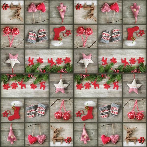 20 Servietten 33x33 Cm Weihnachten Winter Advent Geschenke Patchwork
